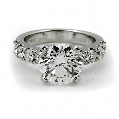 Platinum Diamond solitiare 3.5ct