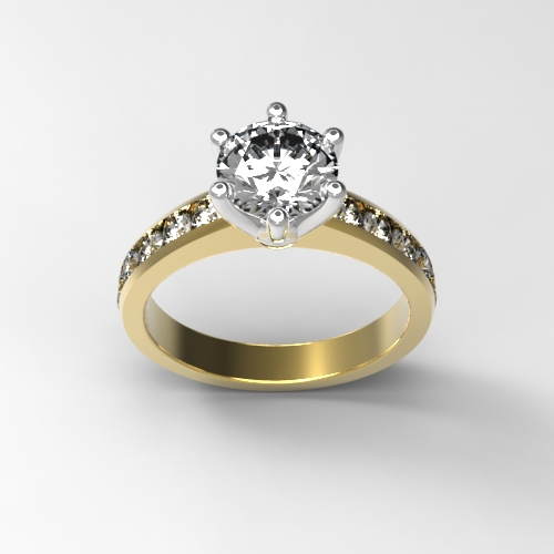 18ct and platinum solitaire 1.5cts total